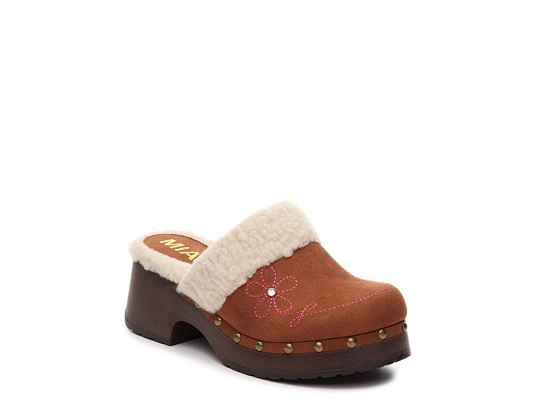 Mia Shearling Girls Youth Clog
