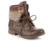 Rock & Candy Spraypaint Herringbone Combat Boot