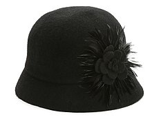 August Hat Company Feather Cloche Bucket Hat