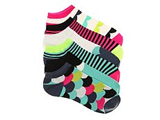 Mix No. 6 Scallop Womens No Show Socks - 6 Pack