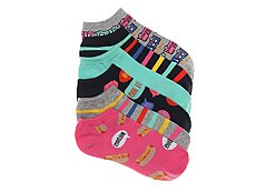 Mix No. 6 Food Truck Womens No Show Socks - 6 Pack