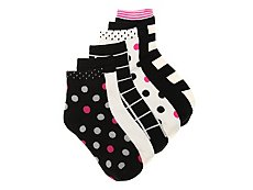 Mix No. 6 Dots & Stripes Womens Ankle Socks - 6 Pack