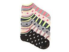 Mix No. 6 Dots & Stripes Womens No Show Socks - 6 Pack