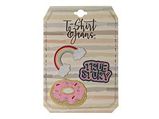 T-Shirt & Jeans True Story Sticker Patches - 3 Pack