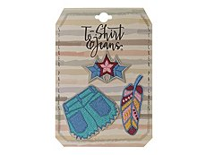 T-Shirt & Jeans Shorts Sticker Patches - 3 Pack