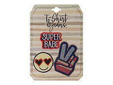T-Shirt & Jeans Super Babe Sticker Patches - 3 Pack
