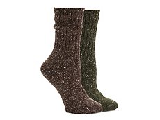 HUE Tweed Ribbed Womens Boot Socks - 2 Pack
