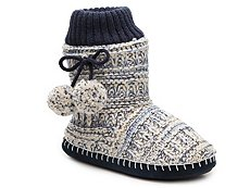 Dirty Laundry Knit Pom Bootie Slippers