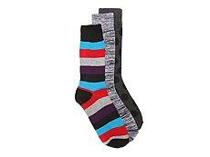 Aston Grey Big Stripe Mens Dress Socks - 3 Pack