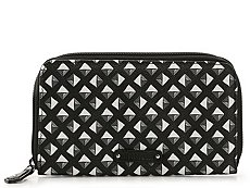 Vera Bradley Black White Studs Georgia Wallet
