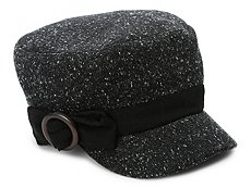 David & Young Speckled Bow Newsboy Cap