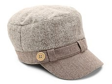 David & Young Herringbone Newsboy Cap