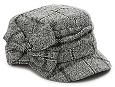 David & Young Plaid Bow Newsboy Cap