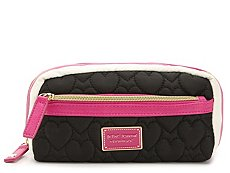 Betsey Johnson Heart Quilted Cosmetic Bag