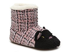 Kensie Kitty Bootie Slipper