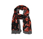 POVERTY FLATS by rian Romantic Blooms Scarf Wrap