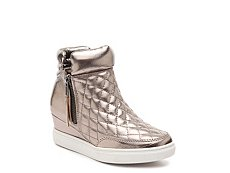 Steve Madden Linqs Quilted Girls Youth Wedge Sneaker Boot