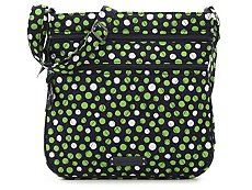 Vera Bradley Lucky Dots Triple Zip Crossbody Bag