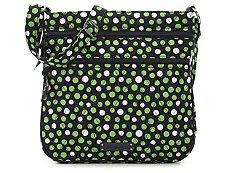 Vera Bradley Lucky Dots Triple Zip Crossbody Bag