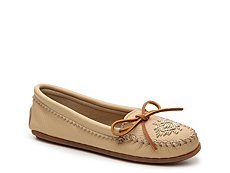 Minnetonka Leather Beaded Flat