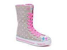Skechers Twinkle Toes Girls Toddler & Youth Light-Up Super High-Top Sneaker
