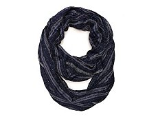 Kelly & Katie Metallic Mixed Stripe Infinity Scarf