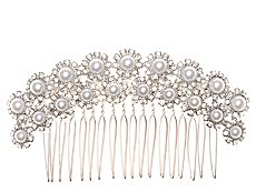 Allure Pave Pearl Hair Comb