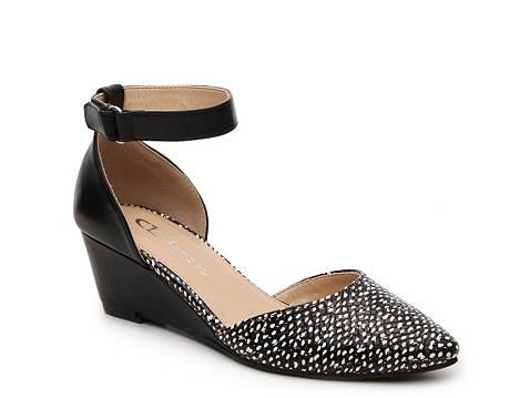 Cl By Laundry Touched Reptile Wedge Pump Dsw