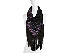 Mix No. 6 Velvet Ikat Triangle Scarf