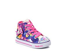 Skechers Twinkle Toes Artsy Girls Toddler Light-Up High-Top Sneaker