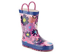 Western Chief Floral Girls Toddler & Youth Rain Boot