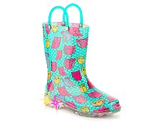 Western Chief Owl Woods Girls Toddler & Youth Light-Up Rain Boot