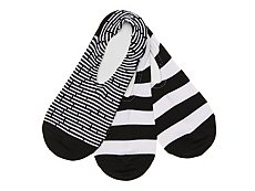 Converse Stripe Womens No Show Socks - 3 Pack