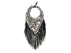 Mix No. 6 Paisley Fringe Chain Scarf