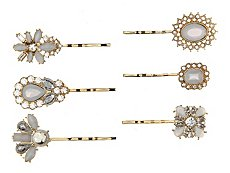 Allure Milky Stone Bobby Pins - 6 Pack