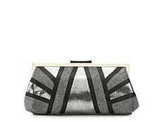 Lulu Townsend Colorblock Glitter Clutch