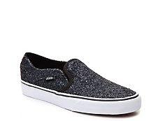 Vans Asher Glitter Slip-On Sneaker - Womens