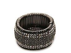One Wink Ombre Black Bling Stretch Bracelet