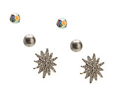 One Wink Star Metallic Trio Stud Earring Set