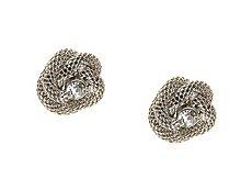 One Wink Knot Rhinestone Stud Earrings
