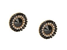 One Wink Round Statement Stud Earrings