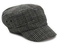 David & Young Plaid Menswear Newsboy Cap