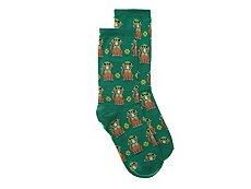 Hot Sox St. Patricks Day Cat Womens Crew Socks
