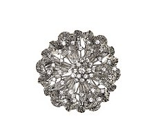 One Wink Crystal Flower Brooch