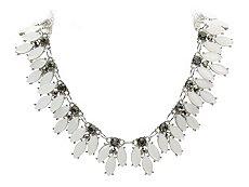 One Wink Spike Jeweled Bib Necklace