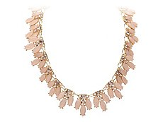 One Wink Spike Jeweled Bib Necklace