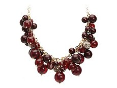 One Wink Beaded Bauble Bib Necklace
