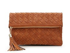 Urban Expressions Woven Tassel Clutch