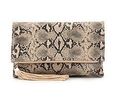 Moda Luxe Snake Tassel Clutch
