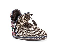 Muk Luks Amira Heathered Bootie Slipper